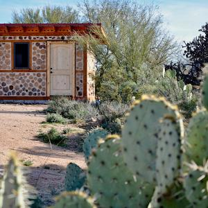The rich texture of the tackroom mimics that of the surrounding Sonoran desert.